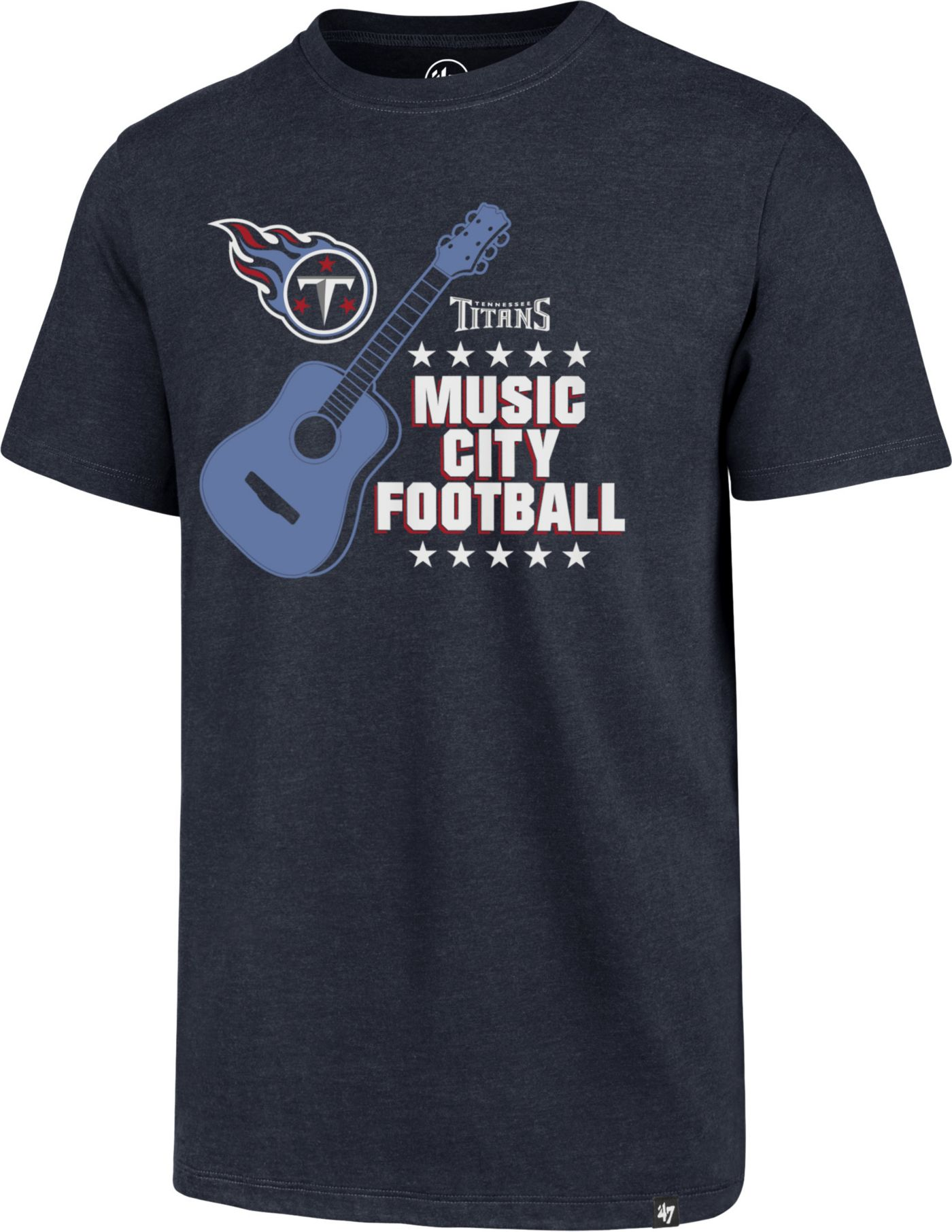 '47 Men's Tennessee Titans Music City Navy T-Shirt