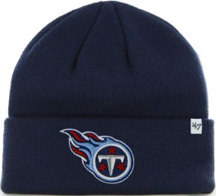 f96fa3b9d74df3 47 Men's Tennessee Titans Basic Navy Cuffed Knit Beanie | DICK'S ...