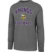 '47 Men's Minnesota Vikings Game Changer Club Grey Long Sleeve Shirt