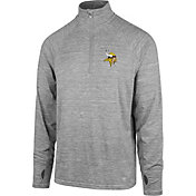 '47 Men's Minnesota Vikings Forward Grey Quarter-Zip Pullover