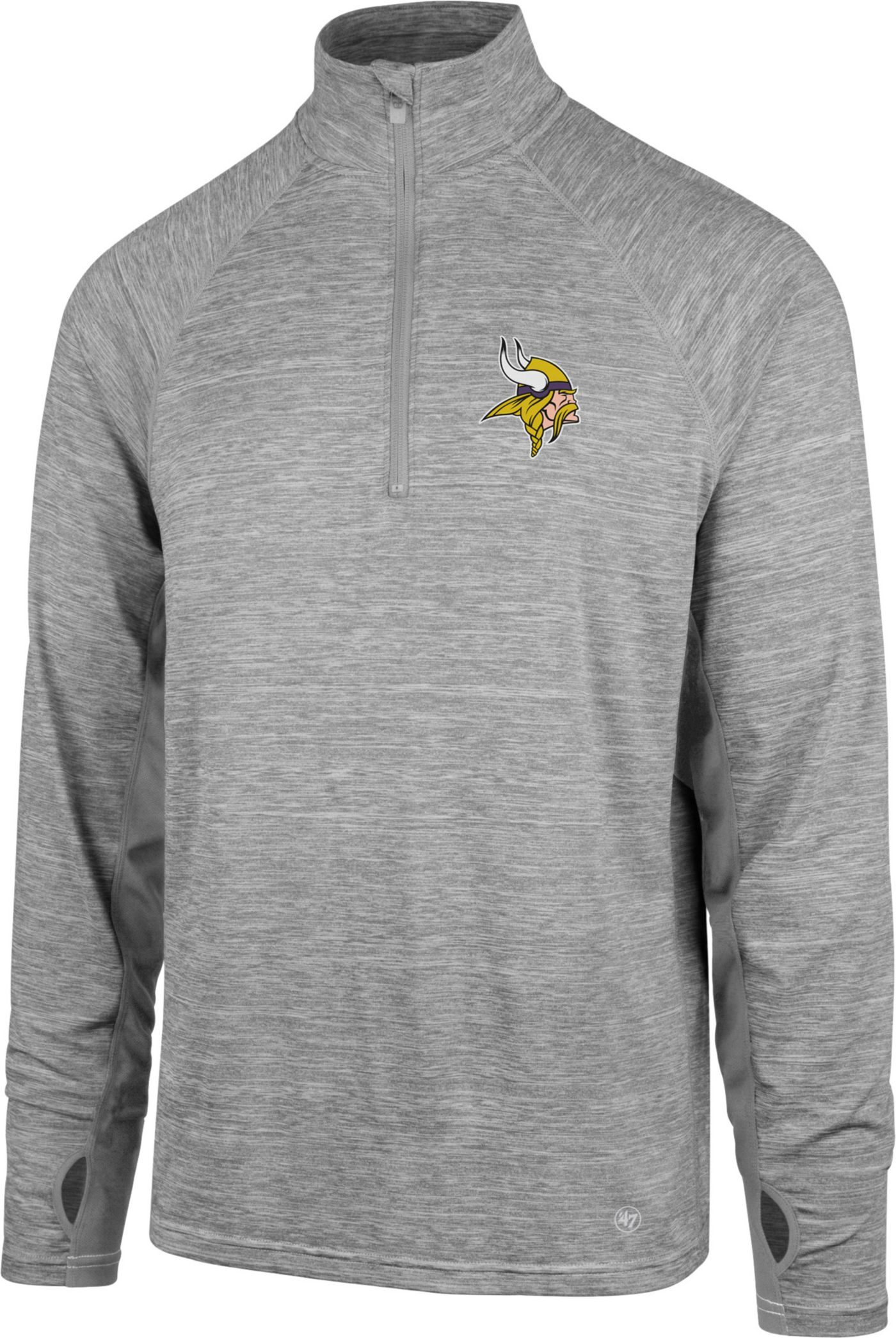 '47 Men's Minnesota Vikings Forward Grey Quarter-Zip Pullover