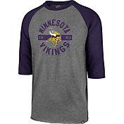 '47 Men's Minnesota Vikings Club Grey Raglan Shirt
