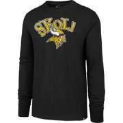 '47 Men's Minnesota Vikings SKOL! Long Sleeve Black Shirt