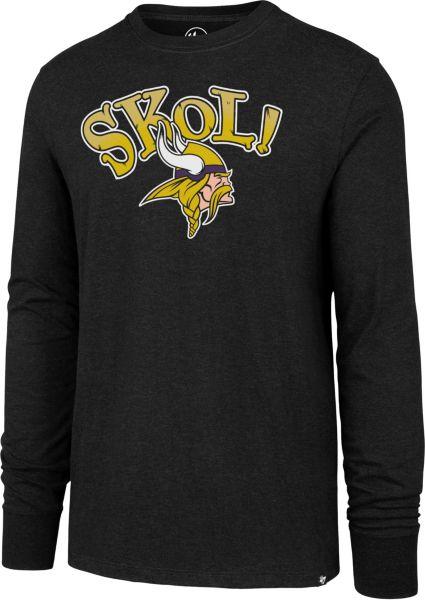 '47 Men's Minnesota Vikings SKOL! Long Sleeve Black Shirt