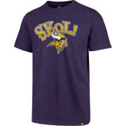 '47 Men's Minnesota Vikings SKOL! Purple T-Shirt