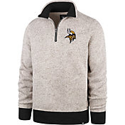 '47 Men's Minnesota Vikings Kodiak Quarter-Zip Oatmeal Top
