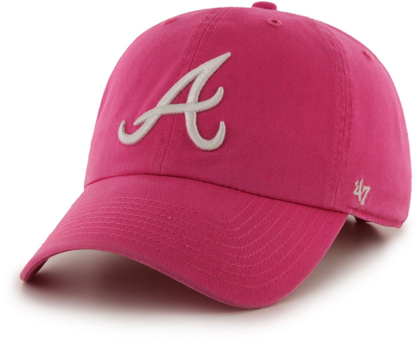'47 Women's Atlanta Braves Clean Up Magenta Adjustable Hat