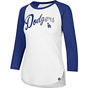 '47 Women's Los Angeles Dodgers Raglan Three-Quarter Sleeve Shirt