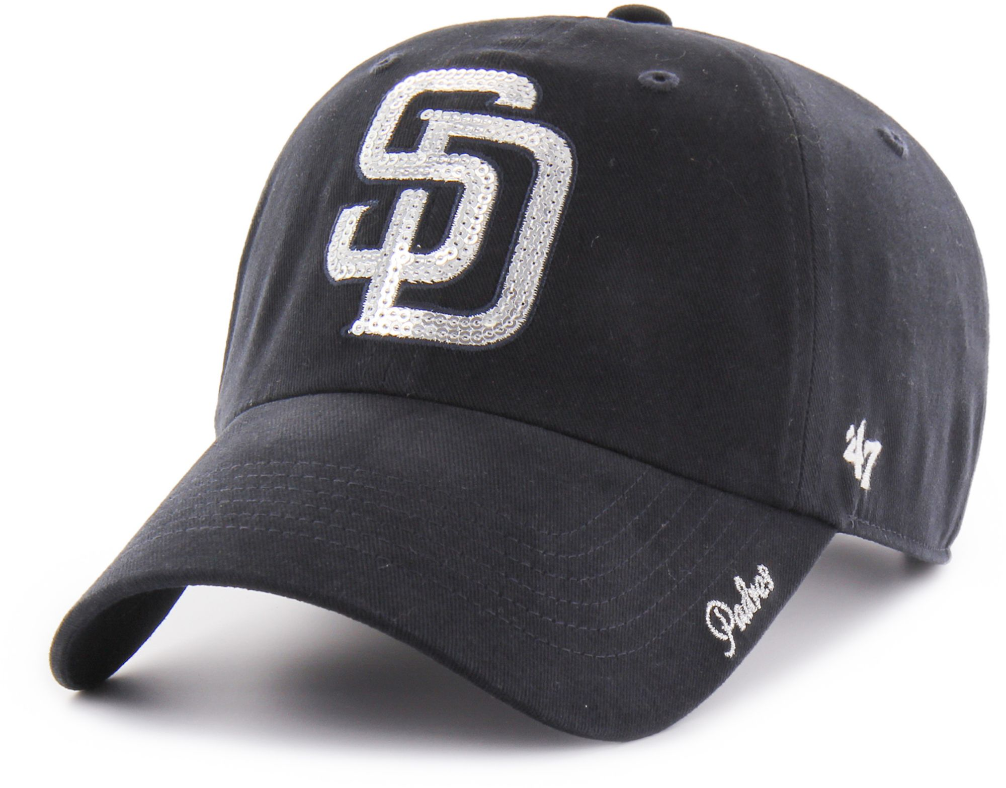382922275335e ... amazon 47 womens san diego padres sparkle clean up adjustable hat 4aaca  699fd