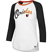'47 Women's Baltimore Orioles Raglan Three-Quarter Sleeve Shirt