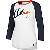 '47 Women's Houston Astros Raglan Three-Quarter Sleeve Shirt