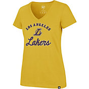 '47 Women's Los Angeles Lakers Ultra Rival V-Neck T-Shirt