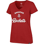 '47 Women's Houston Rockets Ultra Rival V-Neck T-Shirt