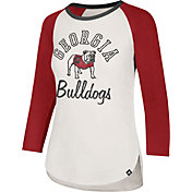 '47 Women's Georgia Bulldogs White/Red Three-Quarter Sleeve Club T-Shirt