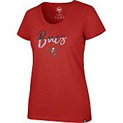 '47 Women's Tampa Bay Buccaneers Sparkle Dip Red Scoop Neck T-Shirt