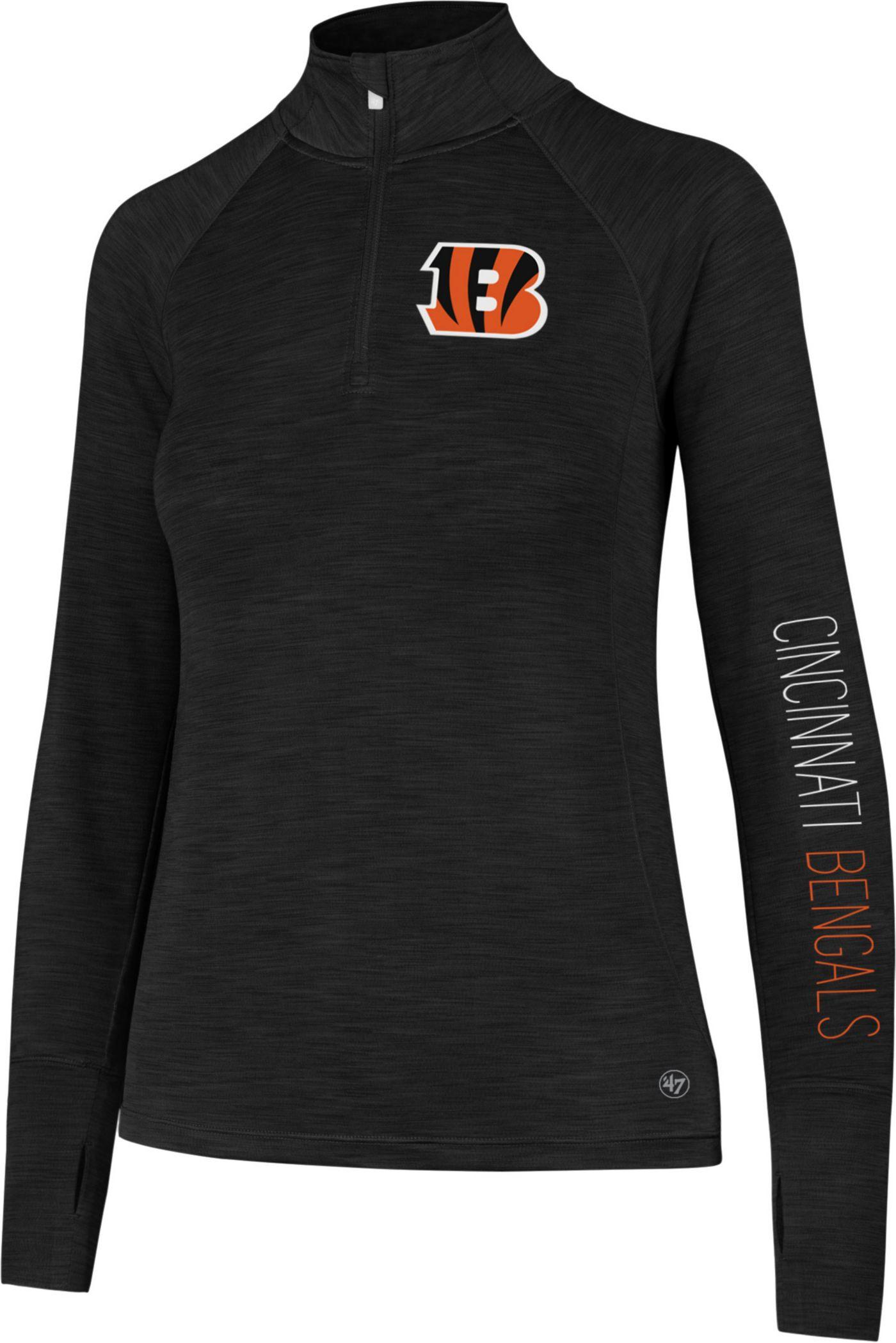 '47 Women's Cincinnati Bengals Shade Black Quarter-Zip Pullover