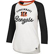 '47 Women's Cincinnati Bengals Splitter White Raglan Shirt