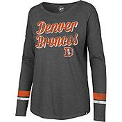 '47 Women's Denver Broncos Courtside Grey Long Sleeve Shirt