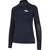 '47 Women's Denver Broncos Shade Navy Quarter-Zip Pullover