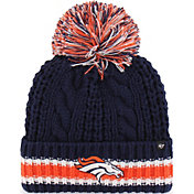 '47 Women's Denver Broncos Sorority Navy Cuffed Pom Knit