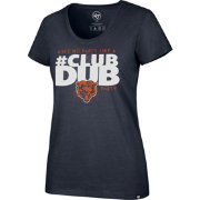 '47 Women's Chicago Bears Club Dub Navy T-Shirt