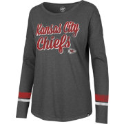 '47 Women's Kansas City Chiefs Courtside Grey Long Sleeve Shirt