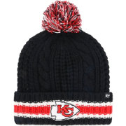 '47 Women's Kansas City Chiefs Sorority Black Cuffed Pom Knit