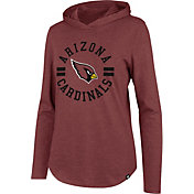 '47 Women's Arizona Cardinals Club Red Hooded Long Sleeve Shirt