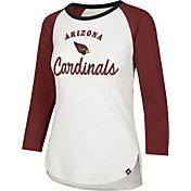 '47 Women's Arizona Cardinals Splitter White Raglan Shirt