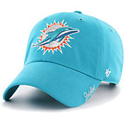 '47 Women's Miami Dolphins Sparkle Logo Aqua Adjustable Hat