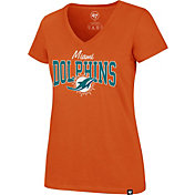 '47 Women's Miami Dolphins Rival Orange V-Neck T-Shirt