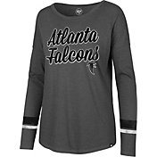 '47 Women's Atlanta Falcons Courtside Grey Long Sleeve Shirt