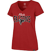 '47 Women's Atlanta Falcons Rival Red V-Neck T-Shirt