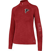 '47 Women's Atlanta Falcons Shade Red Quarter-Zip Pullover
