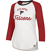 '47 Women's Atlanta Falcons Splitter White Raglan Shirt