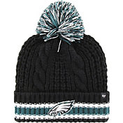 '47 Women's Philadelphia Eagles Sorority Black Cuffed Pom Knit