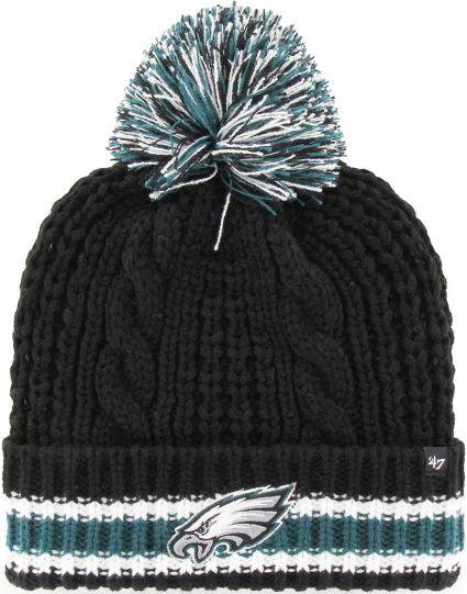 '47 Women's Philadelphia Eagles Sorority Black Cuffed Pom Knit
