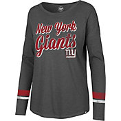 '47 Women's New York Giants Courtside Grey Long Sleeve Shirt