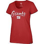 '47 Women's New York Giants Sparkle Dip Red Scoop Neck T-Shirt