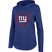 '47 Women's New York Giants Club Royal Hooded Long Sleeve Shirt