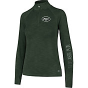 '47 Women's New York Jets Shade Green Quarter-Zip Pullover