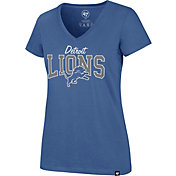 '47 Women's Detroit Lions Rival Blue V-Neck T-Shirt
