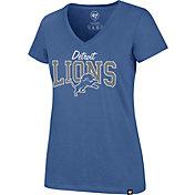 '47 Women's Detroit Lions Rival Blue V-Neck T-Shirt
