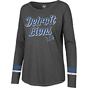 '47 Women's Detroit Lions Courtside Grey Long Sleeve Shirt