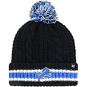 '47 Women's Detroit Lions Sorority Black Cuffed Pom Knit