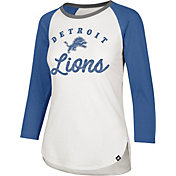 '47 Women's Detroit Lions Splitter White Raglan Shirt