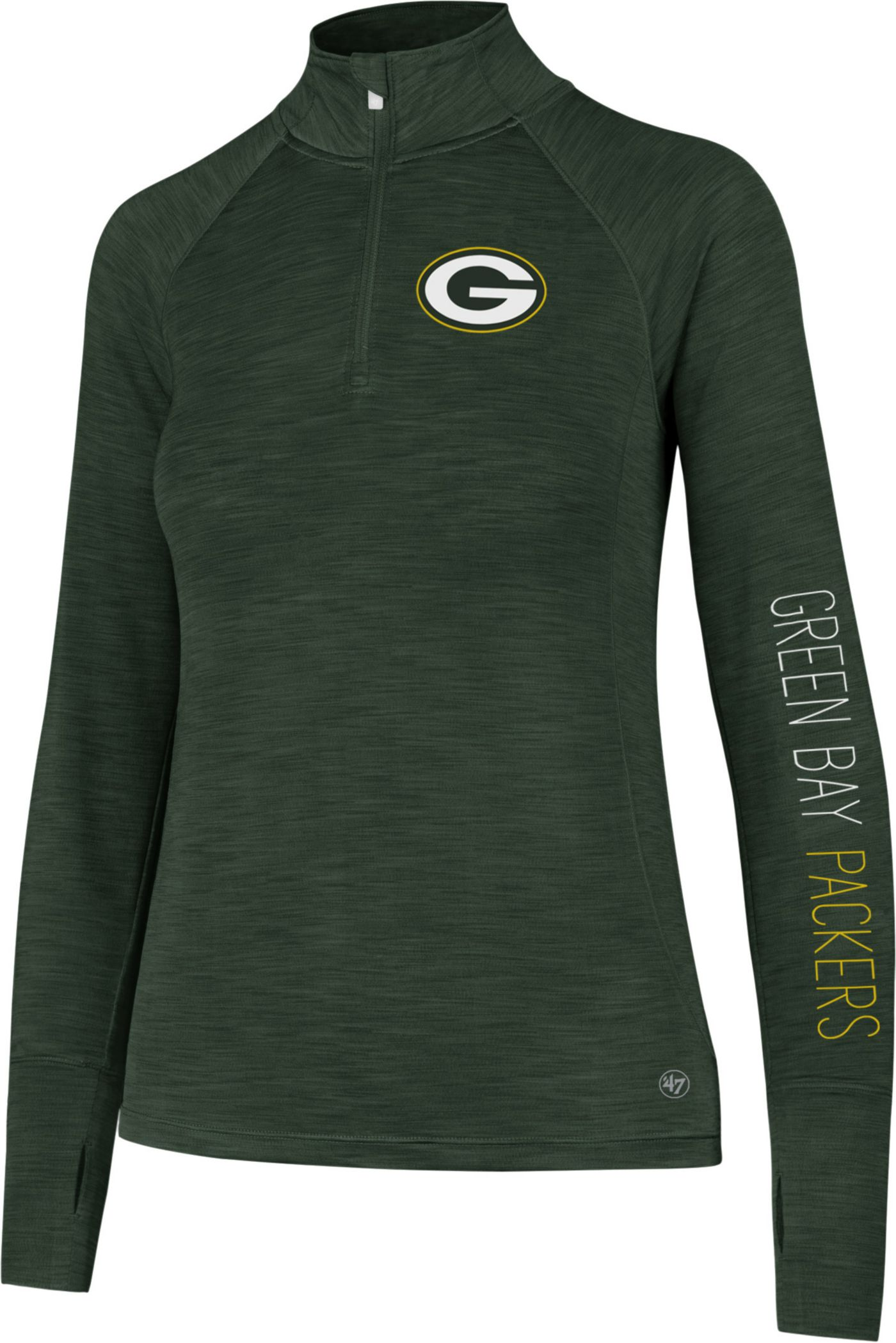 '47 Women's Green Bay Packers Shade Green Quarter-Zip Pullover