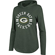 '47 Women's Green Bay Packers Club Green Hooded Long Sleeve Shirt