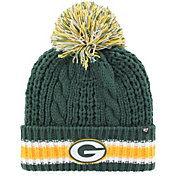 '47 Women's Green Bay Packers Sorority Green Cuffed Pom Knit