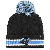 '47 Women's Carolina Panthers Sorority Black Cuffed Pom Knit